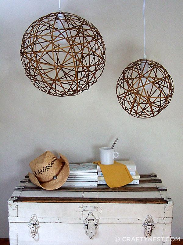 Bamboo orb pendants - off