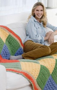 Crochet Stitch Sampler Throw