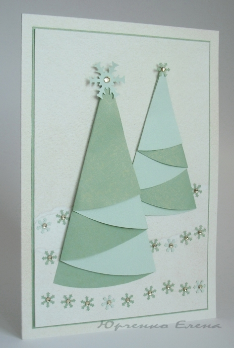 christmas craft ideas: christmas tree cards