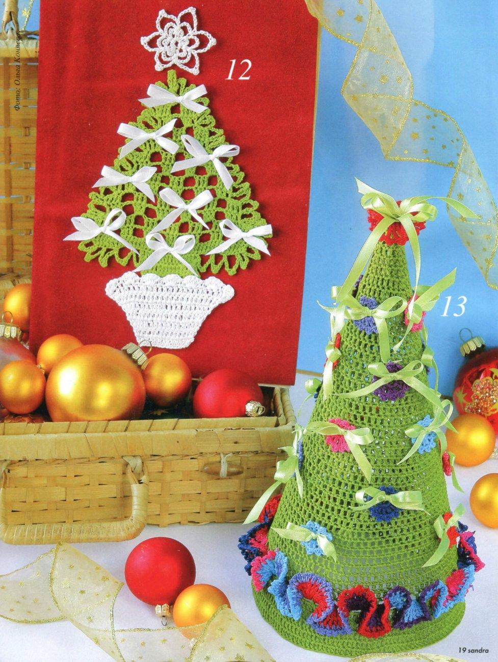 Christmas Craft Ideas Crocheted Christmas Tree Crafts