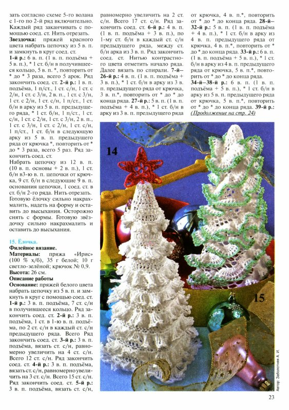 christmas craft ideas: crocheted christmas trees