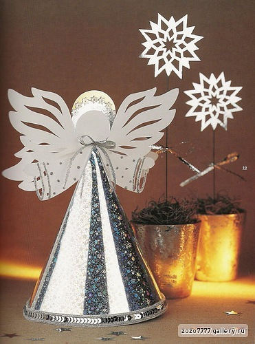 christmas craft ideas: paper angel tutorial
