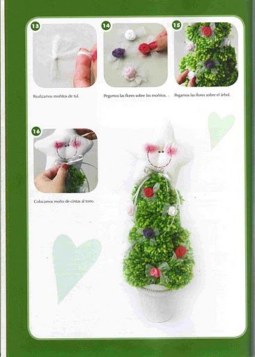 christmas craft ideas: pom pom christmas tree tutorial
