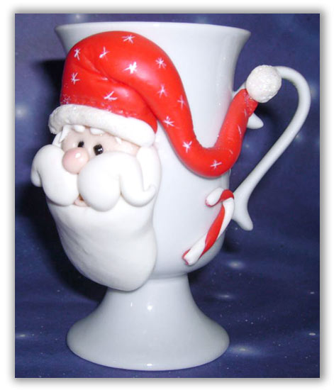 christmas craft ideas: santa cup for christmas