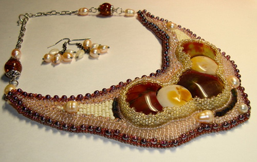 scheme bead necklace tutorial