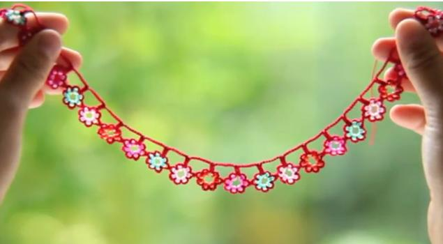 Crochet Flower Garland Beads