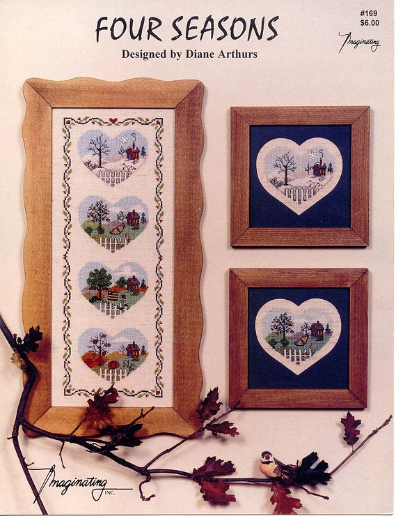 heart pictures for four seasons, crochet patterns