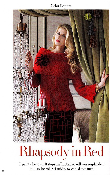 knitted fashion for women: rhapsody in red