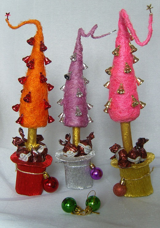 new-year-gifts-decorating-champagnes-candy-christmas-tree-craft-craft ...