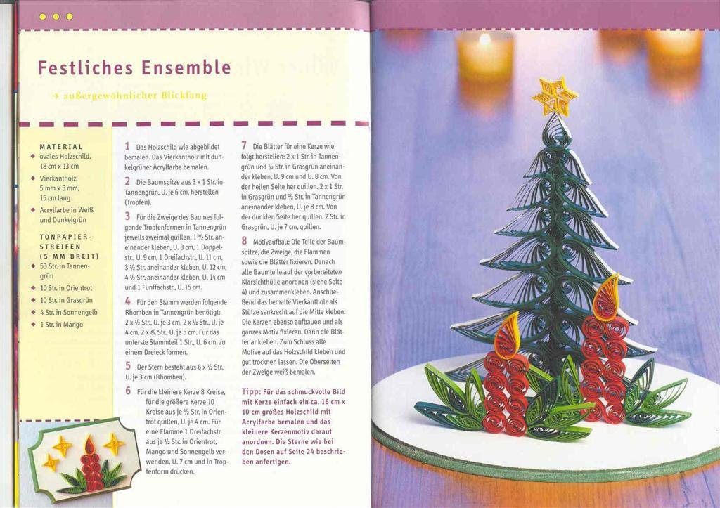 quilling christmas ideas: quilling books