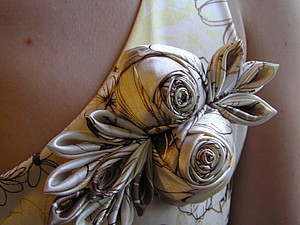 rose fabric for fashion decorate