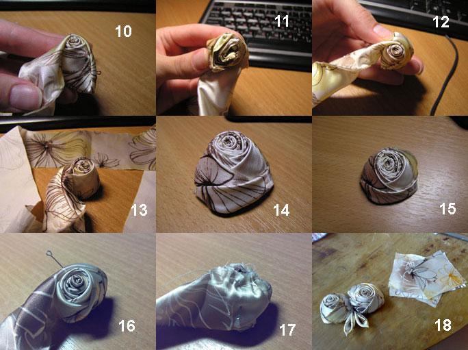 Розы цветы из ткани своими руками