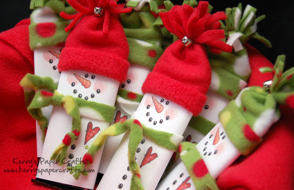 unique crafts for christmas: snowmen hershey bar wrappers