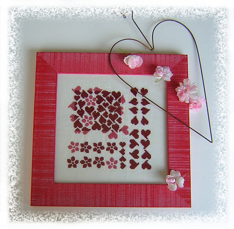 Valentine hearts for gifts embroidered patterns crafts