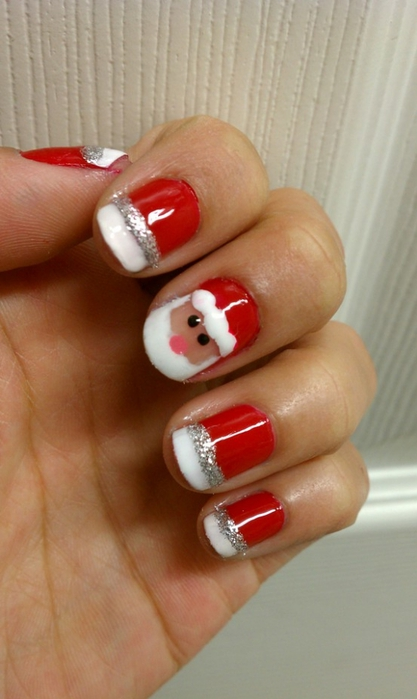 christmas craft ideas: nail art, video tutorial