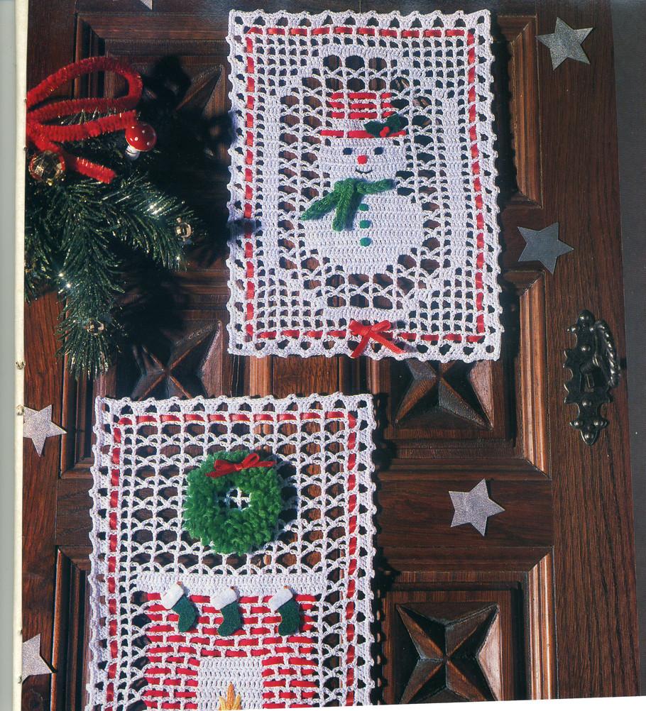 christmas crafts ideas: snowman, chimney crochet patterns