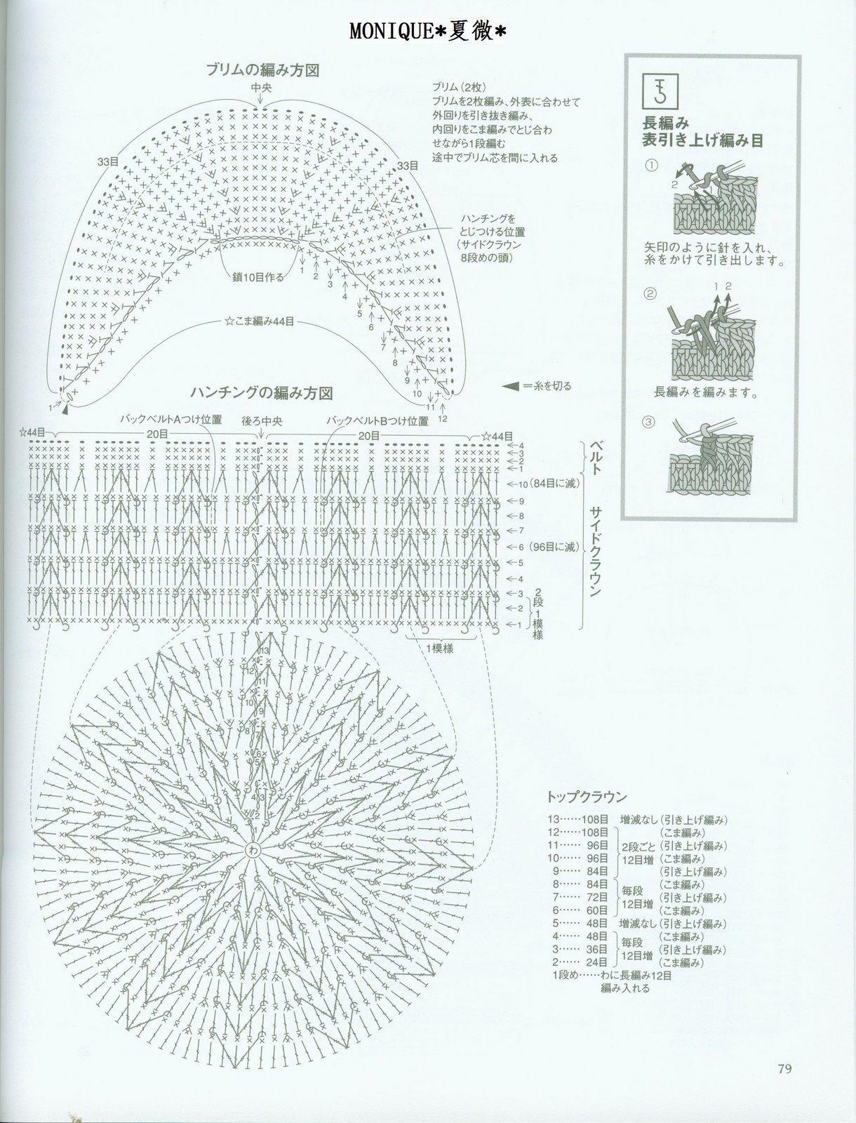 Схема вязания крючком кепки с козырьком для мальчика 62