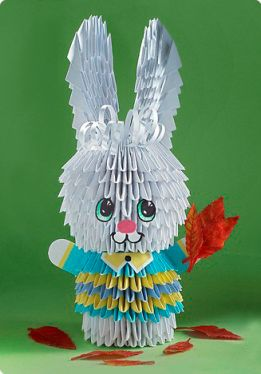 easter crafts for kids: origami bunny tutorial