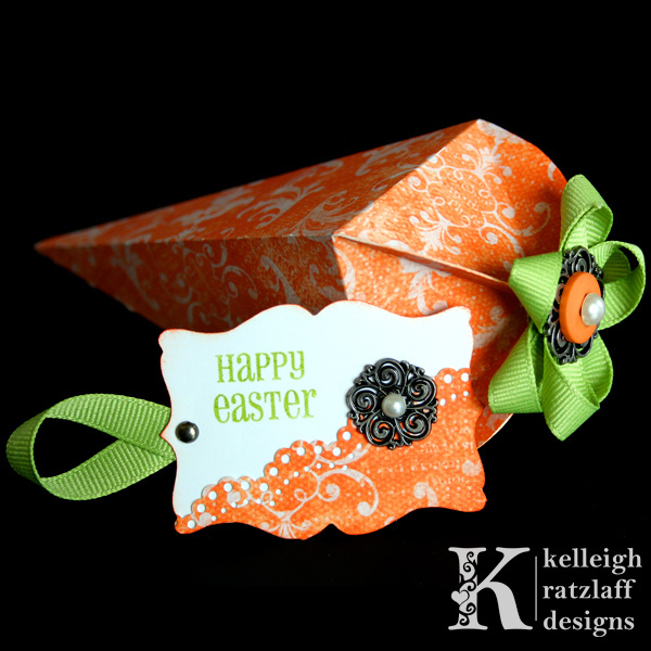 easter gifts:   paper carrot treat box