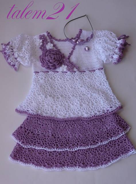 Fashion Gifts For Little Girls Crocheted Dress Crafts