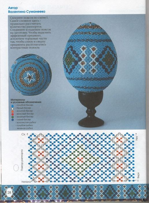 gift for easter: beaded eggs