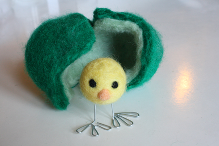 gifts for easter: wet felted easter eggs tutorial