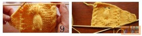 棒针编织毛衣上的 金鱼编织方法 - song-violet - 盘丝洞绒线博客
