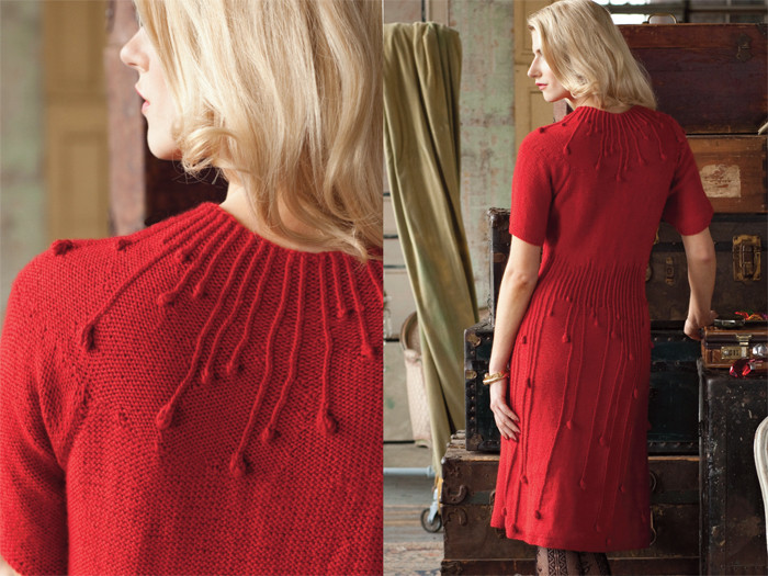 red dress for valentine, knitting patterns
