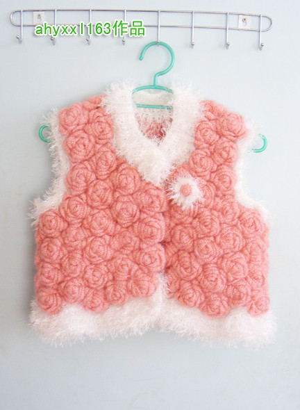 roses vest, crochet tutorial