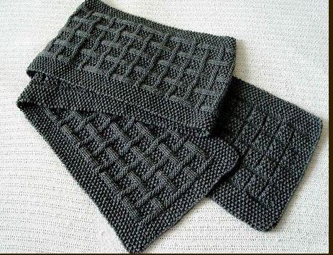 Knit Men's Scarf Pattern - Design Patterns