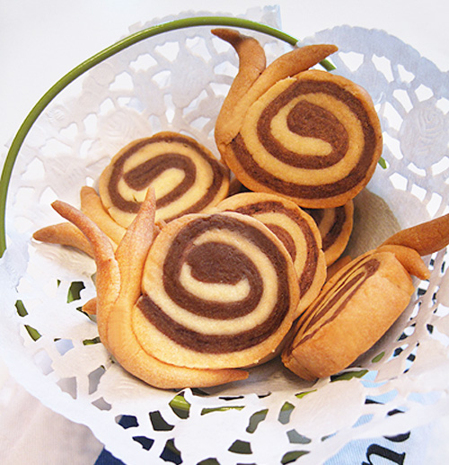 snail cookies tutorial