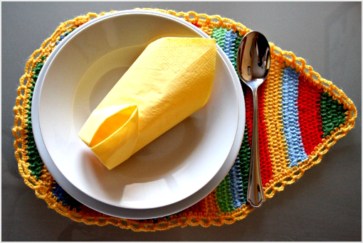free crochet patterns: crochet easter placemat