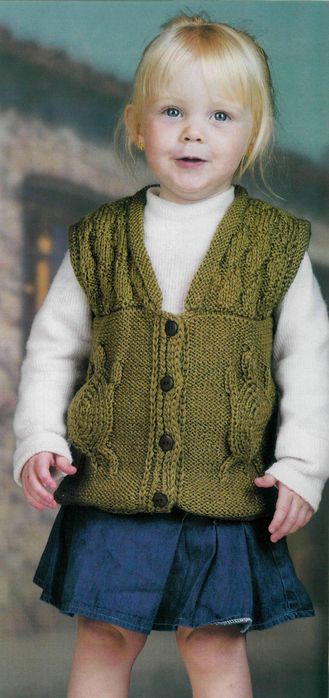 knitting turle vest for children