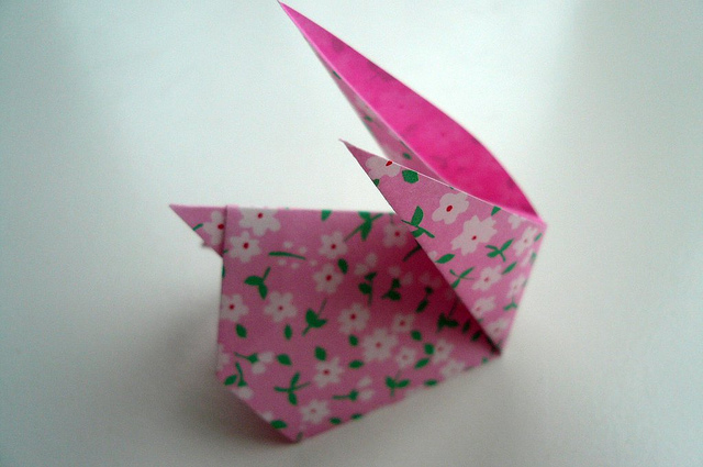 paper crafts for easter: rabbit bunny pattern – origami