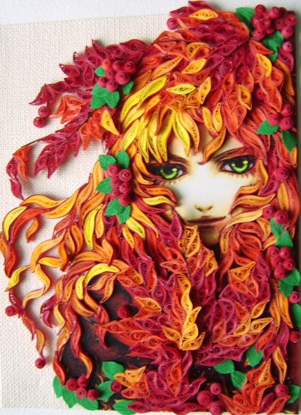 Quilling art female characters in the wonderful paper art for Quilling paper art
