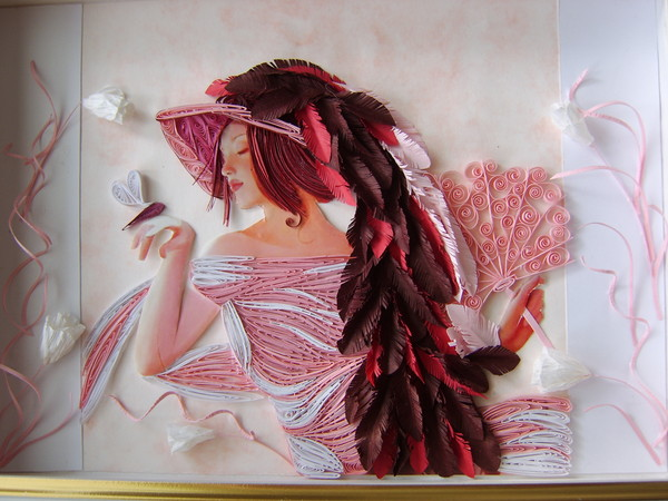 quilling art: female characters in the wonderful paper art