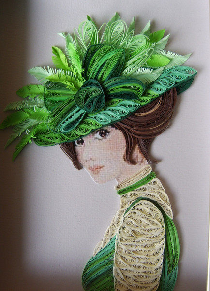 Quilling art female characters in the wonderful paper art for Quilling craft ideas