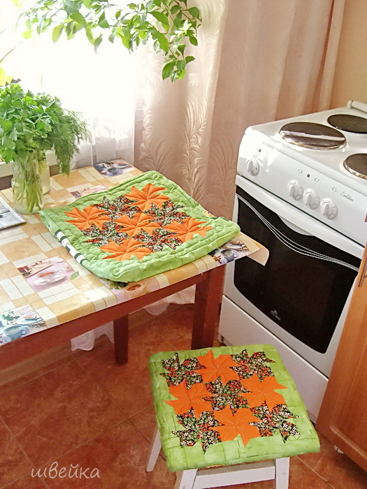 quilting autumn flowers for home