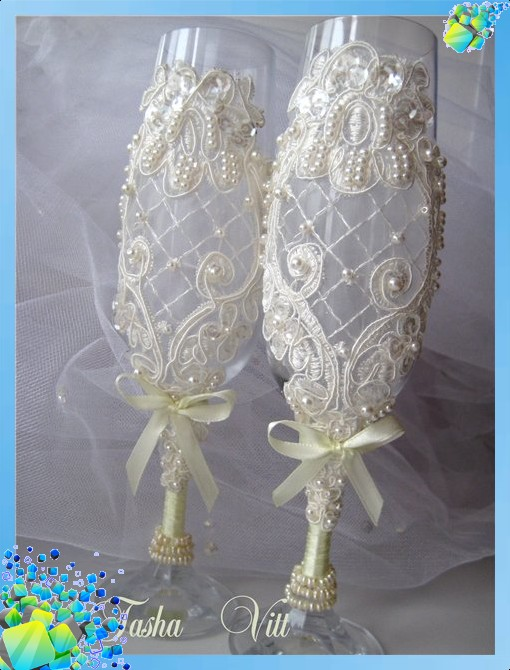 romantic ideas for wedding glasses