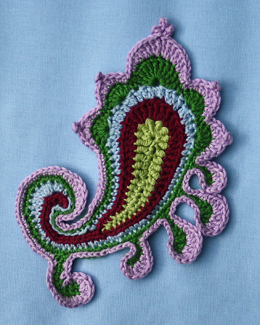 Free Crochet Paisley Motif Pattern : art crochet: paisley irish lace patterns - crafts ideas ...