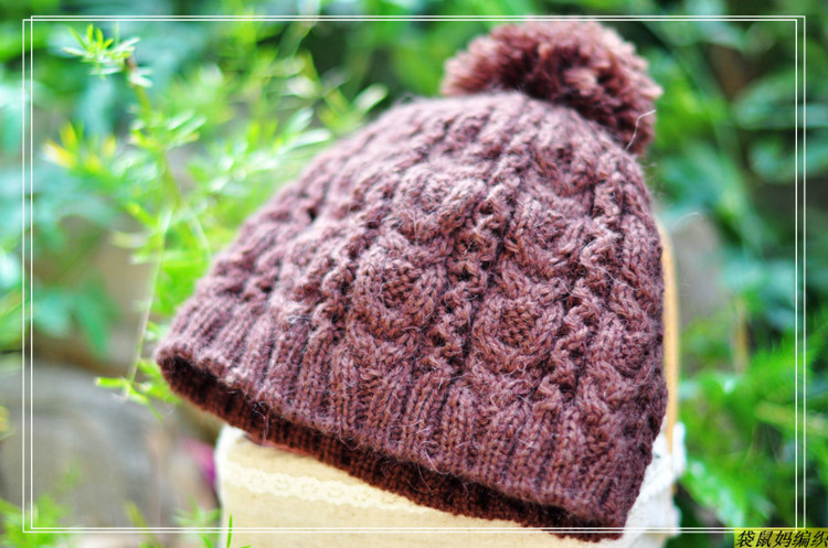 cabble knitting hat for winter