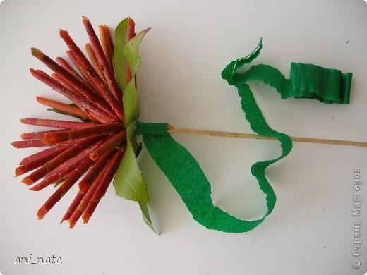Мастер-класс Моделирование: Хризантемы из осенних листьев. Бумага гофрированная, Листья, Нитки Праздник осени. Фото 18