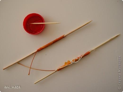 Мастер-класс Моделирование: Хризантемы из осенних листьев. Бумага гофрированная, Листья, Нитки Праздник осени. Фото 4