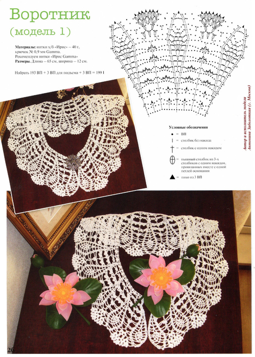 Crochet beauty collars, more patterns.