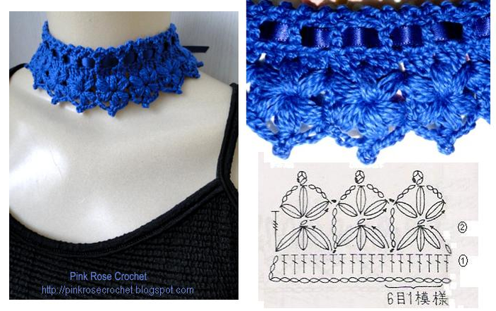 crochet beauty collars, more patterns - crafts ideas - crafts for kids