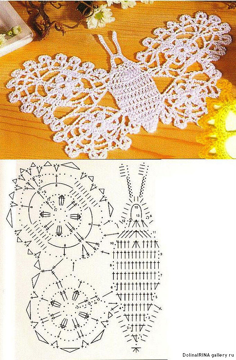 crochet butterflies, more ideas