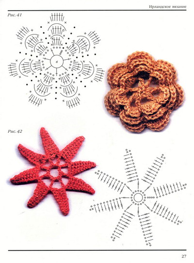 Crochet Flower More Patterns And Diagrams Crafts Ideas Crafts