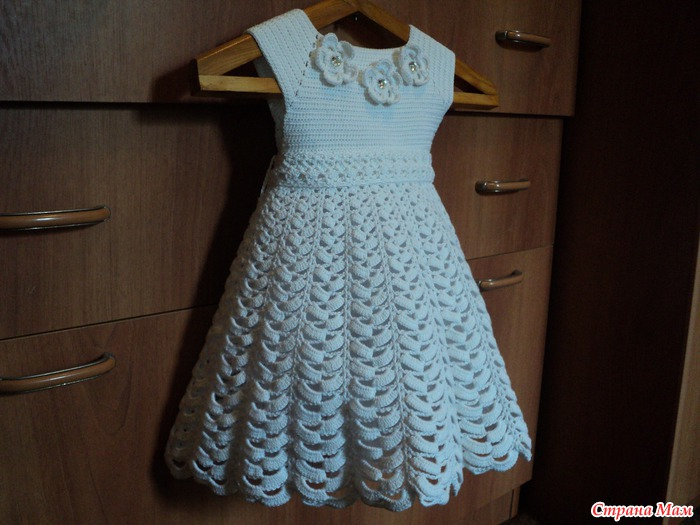 crochet white dress for little angle