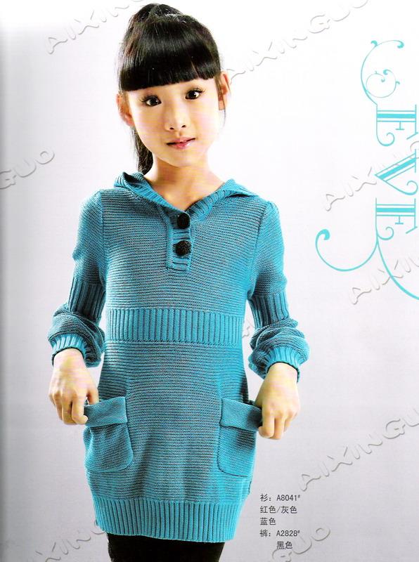 cute knitting winter dresses for baby girls