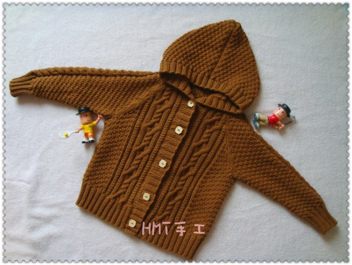 knitting cable sweater for little boy